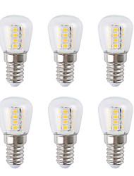 Недорогие -6шт 3 W Круглые LED лампы 300 lm E14 26 Светодиодные бусины SMD 2835 Тёплый белый Белый 220-240 V