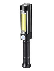 Недорогие -working light Светодиодные фонари Ручные фонарики огни безопасности Светодиодная лампа LED 2 излучатели 3 Режим освещения Водонепроницаемый Портативные Для профессионалов