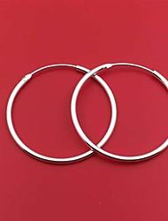 Недорогие -Новый дизайн простой круг серьги обруча стерлингового серебра 925 круглые большие серьги для женщин минималистичный стиль ювелирных изделий
