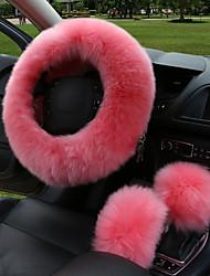 Недорогие -зимняя обивка руля автомобиля длинная шерсть с подогревом кожаная обивка руля