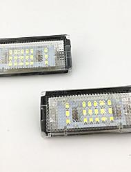 Недорогие -2 шт. / Компл. Без ошибок светодиодный номерной знак лампа для BMW E46 4D (98-03) 323i 325i 328i
