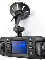 Недорогие -x8000 HD 140 широкоугольный двойной объектив автомобильный видеорегистратор автомобильный видеокамера с GPS