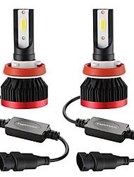 Недорогие -2шт мини светодиодные лампы фар автомобиля 9005 / hb3 100 Вт 20000lm 6000 К фар автомобиля