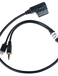 Недорогие -ami mdi audi lightning aux музыкальный конвертер кабель-адаптер для ipod iphone5 для audi a7 a8 p6 a5 30см