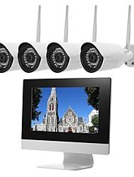 Недорогие -szsinocam @ 4-канальная беспроводная система видеонаблюдения h.264 аудиозапись 2-мегапиксельная 1080p 4-канальный видеорегистратор с 10,1 lcd водонепроницаемым наружным видеонаблюдением для