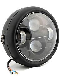 Недорогие -черный наивысшая мощность проектора светодиодные фары ремонт лампы аксессуары для общего мотоцикла