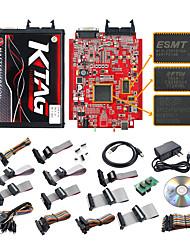 Недорогие -ktag 7.020 онлайн v2.23 токен 4 светодиодная красная печатная плата v7.020 ktm100 ktag ecu инструмент программирования мастер-версия v2.23 с неограниченным токеном