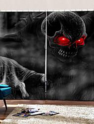 Недорогие -Новый ультрафиолетовый цифровой печати красный глаз монстр фон шторы затемнения влагостойкие ткани занавес для гостиной / спальни