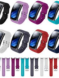 Недорогие -Ремешок для часов для Gear Fit Pro / Gear Fit 2 Fitbit Спортивный ремешок силиконовый Повязка на запястье