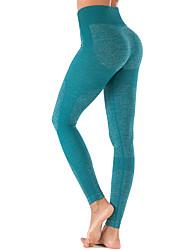 billige -Dame Yoga bukser Sport Elastin Tights Underdele Zumba Løb Fitness Sportstøj Letvægt Svedtransporende Blød Butt Lift Mikroelastisk