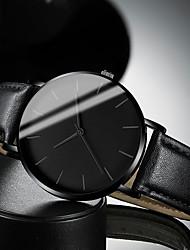 Недорогие -Муж. Нарядные часы Кварцевый Современный Стильные Кожа Черный / Коричневый 30 m Защита от влаги Повседневные часы Cool Аналоговый На каждый день Мода - Черный Белый Коричневый / Один год