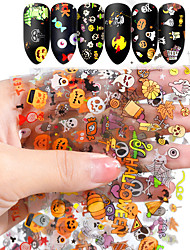 Недорогие -10 цветов nail art star трансферная бумага горячая распродажа радуга небо японский стиль стикер фольги для ногтей лак для ногтей клей наклейки