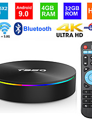 Недорогие -t95q android 8.1 set top box 4 ГБ 32 ГБ Smart IPTV 4 КБ HDDDR3 Amlogic S905x2 Quad Core 2.4 г&домашний медиаплеер с усилением 5g Dual Wi-Fi H.265