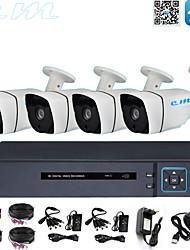 Недорогие -8-канальный набор оборудования для мониторинга AHD коаксиальный HD-магазин монитор 1080 P DVR мобильный телефон пульт