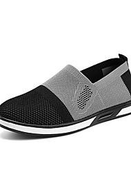 hesapli -Erkek Ayakkabı Örümcek Ağı Sonbahar Kış Mokasen & Bağcıksız Ayakkabılar Günlük için Siyah / Gri