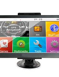 Недорогие -7-дюймовый автомобильный GPS-навигатор Sat Nav 256 RAM / 8 ГБ Bluetooth AV-FM передатчик в комплекте бесплатные новые карты