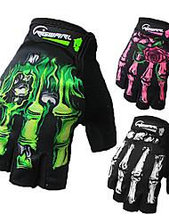 Недорогие -Перчатки для велосипедистов Нескользящий Алюминиевый сплав 7075 Мотоспорт Эргономический дизайн Спортивные перчатки Белый Зеленый Розовый для Взрослые
