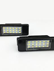 Недорогие -2 шт. / Компл. Светодиодный свет номерного знака автомобиля для peugeot 207 308 citroen c2c3c4c5