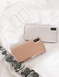 ราคาถูก -Case สำหรับ Apple iPhone XS / iPhone XR / iPhone XS Max IMD / Mirror / Pattern ปกหลัง สีพื้น TPU