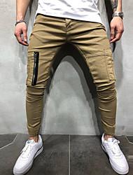 povoljno -Muškarci Osnovni Chinos / Sportske hlače Hlače - Jednobojni Crn Djetelina Žutomrk US32 / UK32 / EU40 US34 / UK34 / EU42 US36 / UK36 / EU44