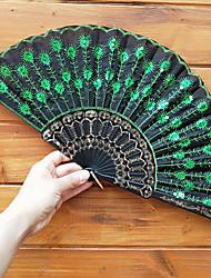 Недорогие -Пластиковые блестки вышивка складной веер свадебные сувениры свадебные принадлежности подарок 23 см длиной