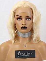Недорогие -Premierwigs бесклеевые кружевные передние парики бразильские реми человеческие волосы светлые волосы коричневого цвета 150% плотность объемной волны с предварительно закрашенными натуральными волосами