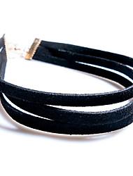 povoljno -Žene Choker oglice Krom Crn 37 cm Ogrlice Jewelry 1pc Za Dnevno Škola Ulica Praznik Festival