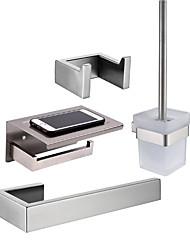 Недорогие -держатель для туалетной щетки / вешалка для полотенец / набор аксессуаров для ванной комнаты креативный / многофункциональный / античный новый дизайн / современный металл / из нержавеющей стали / очки