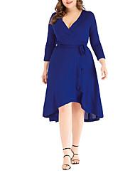 povoljno -Žene A kroj Haljina Jednobojni Asimetričan