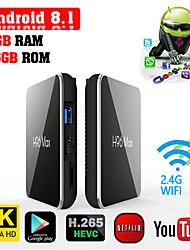 Недорогие -h96 max amlogic s905x2 android 8.1 2 ГБ ddr4 16 ГБ ТВ-бокс двухдиапазонный Wi-Fi LAN Bluetooth USB3.0 HDMI