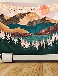 Недорогие -Сад / богемский Theme Декор стены 100% полиэстер Modern Предметы искусства, Стена Гобелены Украшение