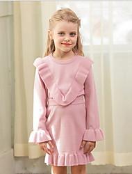 povoljno -Dijete koje je tek prohodalo Djevojčice Aktivan Jednobojni Dugih rukava Regularna Komplet odjeće Blushing Pink
