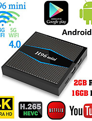 Недорогие -H96 мини Amlogic S905W Android 7.1 2 ГБ DDR4 16 ГБ TV Box двухдиапазонный Wi-Fi LAN Bluetooth USB3,0 HDMI
