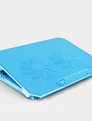 Недорогие -LITBest M11 Охлаждающая подставка для ноутбука Aluminum Alloy Пластик ABS с USB-портами Регулируемая скорость вентилятора Регулируемый угол Регулируемая высота 2 pcs Поклонник