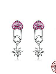 Недорогие -Серьги-булавки в форме сердца для женщин, стерлинговое серебро 925 пробы, cave star drop, серьги женские корейские ювелирные аксессуары bse115