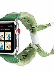 Недорогие -Нейлоновые плетеные ленты 44 мм / 40 мм / 38 мм / 42 мм красочные веревки серии iwatch 4/3/2/1 браслет ручной работы плетение плетение браслет для яблочных часов