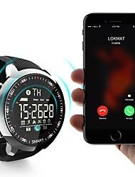 Недорогие -lokmat mk18 мужчины женщины smartwatch android ios bluetooth водонепроницаемый спорт умный таймер информации секундомер шагомер вызов напоминание активность трекер