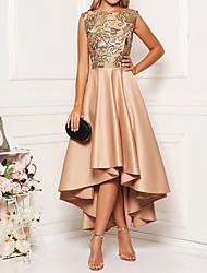 Недорогие -Жен. Элегантный стиль А-силуэт Платье - Цветочный принт, С принтом Ассиметричное