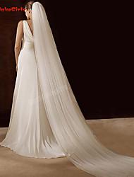 Недорогие -Два слоя Классический / Винтаж Свадебные вуали Соборная фата / Фата для венчания с Гребень в виде цветка 118,11 в (300см) Тюль