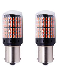 Недорогие -2 шт. P21w py21w t20 w21w 7440 указатель поворота s25 144 smd canbus безошибочная лампа автомобиля тормозная лампа lamp12-24v