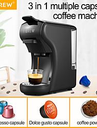 Недорогие -Hibrew капсульная кофемашина полностью автоматическая с горячей&усилитель; машина для вспенивания холодного молока машина для вспенивания молока