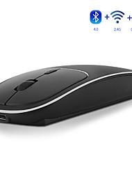 Недорогие -Modao E69 аккумуляторная 2,4 ГГц и Bluetooth для беспроводной металлический бесшумный щелчок двойной режим оптической мыши