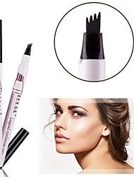 Недорогие -Lulaa карандаш для бровей водонепроницаемый с 3шт бесплатно трафареты бровей оттенок татуировка ручка легко нарисовать 24 ч прочный карандаш для бровей макияж