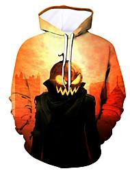 Недорогие -Муж. Активный / Хэллоуин Толстовка - Контрастных цветов