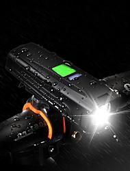 Недорогие -Светодиодная лампа Велосипедные фары Передняя фара для велосипеда LED Горные велосипеды Велоспорт Водонепроницаемый Несколько режимов Супер яркий 18650 450 lm USB Перезаряжаемый Белый / Большой угол