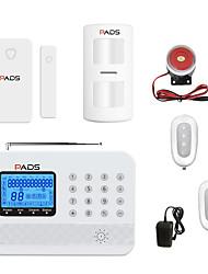 Недорогие -Беспроводная GSM охранная сигнализация PSTN сигнализация Dual-Net противоугонное устройство