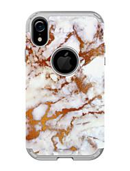 ราคาถูก -Case สำหรับ Apple iPhone XS / iPhone XR / iPhone XS Max Shockproof ปกหลัง Scenery / ดอกไม้ / Marble TPU / พีซี
