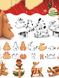 Недорогие -рождественская вечеринка 3d печенья снеговик рождественская елка печенье плесень бисквит помадка резак инструменты для украшения торта