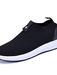 hesapli -Erkek Ayakkabı Örümcek Ağı Sonbahar Kış Mokasen & Bağcıksız Ayakkabılar Günlük için Siyah / Siyah ve Beyaz / Yeşil