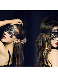 Недорогие -Маски на Хэллоуин Маскарадные маски Кружевная маска Игрушки Новинки Кружева Ужасы Куски Жен. Подарок